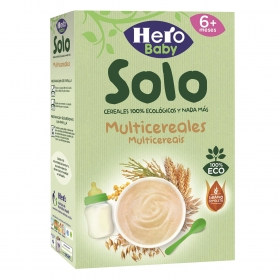 Papilla multicereales 100% ecológica Hero Baby Solo 300 g.