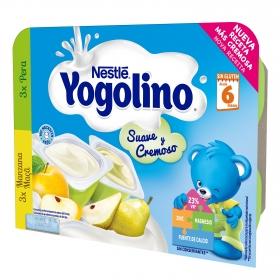 Postre de manzana y pera Nestlé Iogolino pack de 6 unidades de 60 g.