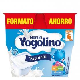 Postre sabor natural Nestlé Iogolino pack de 8 unidades de 100 g.