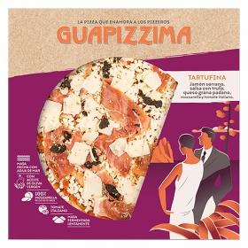 Pizza de jamón serrano, queso grana padano y trufa tartufina Guapizzima 400 g.