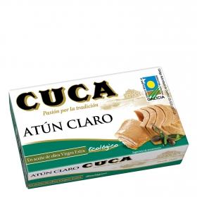 Atun Claro aceite oliva Virgen extra ecológico Cuca 81 g.