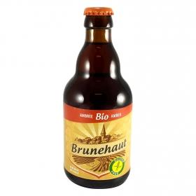 Cerveza artesana ecológica Brunehaut ambar sin gluten botella