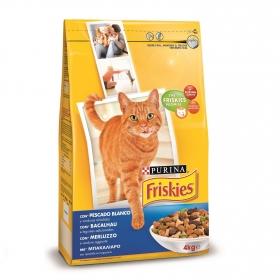 Purina Friskies Pienso para Gato Adulto Bacalao y Verduras 4Kg