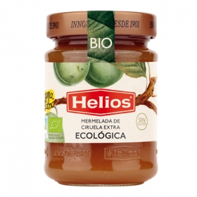 Mermelada de ciruela categoría extra ecológica Helios sin gluten 350 g.