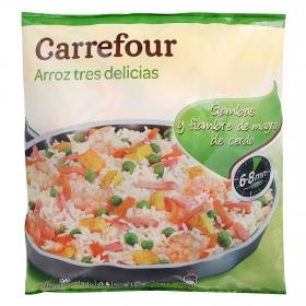 Arroz tres delicias Carrefour 1 kg.