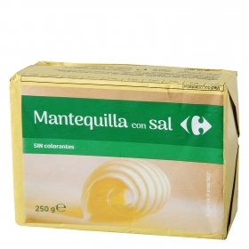 Mantequilla con sal Carrefour 250 g.