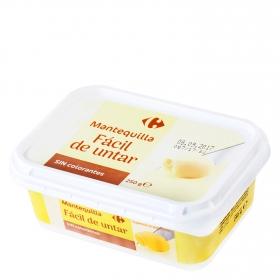 Mantequilla sin colorantes fácil de untar Carrefour 250 g.