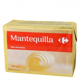 Mantequilla sin colorantes Carrefour 250 g.