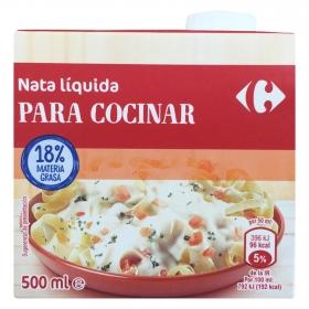 Nata para cocinar Carrefour líquida 500 ml.