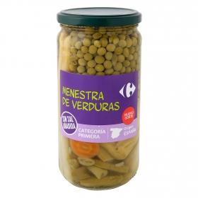 Menestra de verduras sin sal añadida Carrefour 400 g.