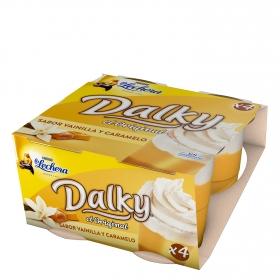 Copa de vainilla y caramelo Dalky