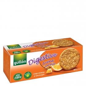 Galletas digestive de avena y naranja