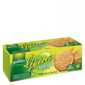 Galletas de avena sin sal añadida Digestive Gullón 425 g.