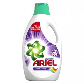 Detergente líquido Actilift Color y Style Ariel 50 lavados.