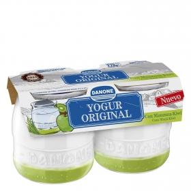 Yogur original con manzana-kiwi