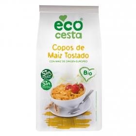 Copos de maíz tostado sin azúcares añadidos ecológicos Ecocesta 400 g.