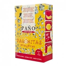 Palomitas para microondas ecológicas Paño pack de 3 bolsas de 100 g.