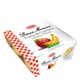 Fruta de cuchara manzana y plátano