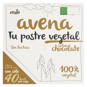 Postre vegetal de avena sabor chocolate YelliFrut sin lactosa pack de 4 unidades de 100 g.
