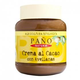 Crema al cacao de avellanas ecológica Paño 400 g.