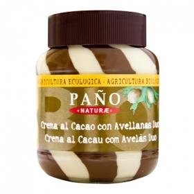 Crema de cacao y leche con avellanas ecológica Paño 400 g.