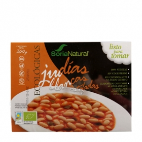 Judía Blanca Estofada con Verduras ecológica Soria Natural 350 g.