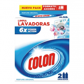 Limpia lavadoras Power Action Colon 2 ud.
