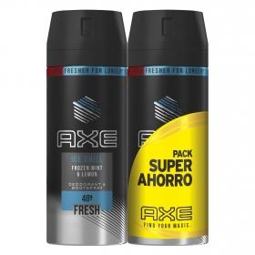 Desodorante en spray Ice Chill Axe pack de 2 unidades de 150 ml.