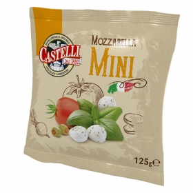 Queso mozzarella mini Castelli 125g.