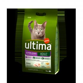 Ultima Pienso para Gato Esterilizado Sabor pollo 3kg