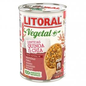 Lentejas con quinoa y chía Litoral sin gluten 415 g.