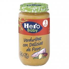 Tarrito de verduras con pavo desde 6 meses Hero Baby natur 235 g.