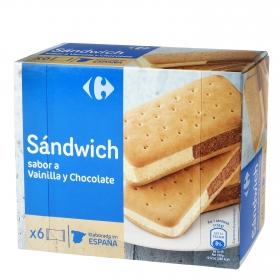 Sandwich de vainilla y chocolate