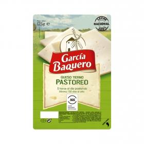 Queso tierno pastoreo en lonchas García Baquero125 g.