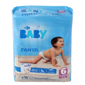 Pants T6 (16+ kg.) Carrefour Baby 18 ud.