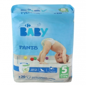 Pants T5 (12-18 kg.) Carrefour Baby 20 ud.
