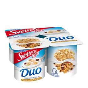 Yogur desnatado con Muesli