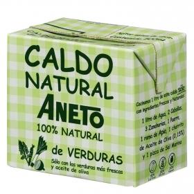 Caldo natural de verduras Aneto sin gluten y sin lactosa 500 ml.