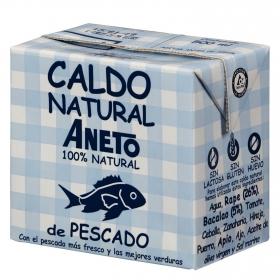 Caldo natural de pescado Aneto sin gluten sin lactosa 500 ml.