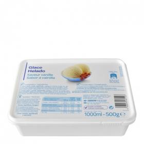 Helado de vainilla Producto blanco 1 l.
