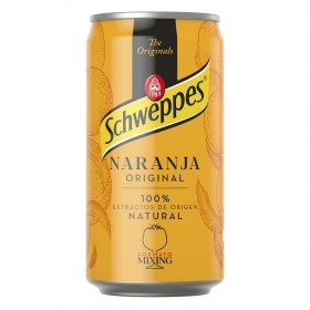 Refresco de naranja Schweppes con gas lata