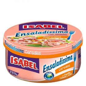 Ensalada con espelta, cebada y atún