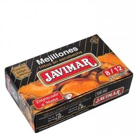 Mejillones fritos en escabeche 8/12 Javimar 70 g.