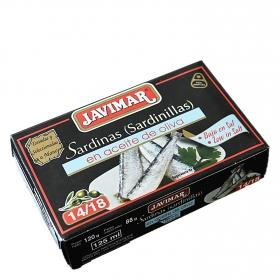 Sardinillas en aceite de oliva 14/18 Javimar 88 g.