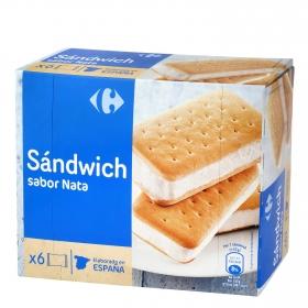 Sandwich de nata Carrefour 6 ud.