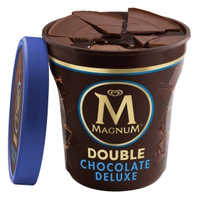 Helado de chocolate deluxe Double Magnum 440 ml.