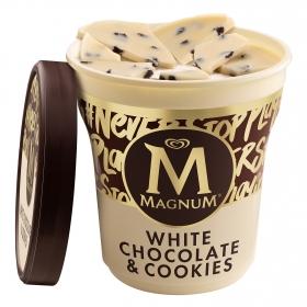Helado de chocolate blanco con cookies Magnum 440 ml.