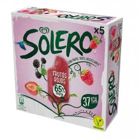 Helado vegano de frutos rojos Solero pack de 5 unidades de 66 g.