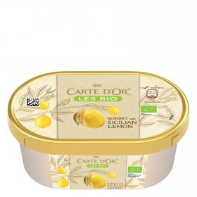 Helado sorbete de limón ecológico Carte D'or 300 g.