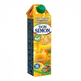 Zumo de naranja Don Simón exprimido con pulpa brik 1 l.